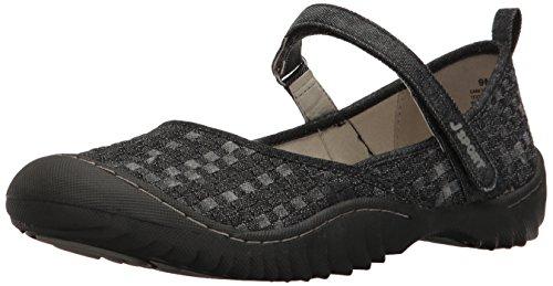 JSport by Jambu Women's Cara Walking Shoe, Black/Multi, 6 M US