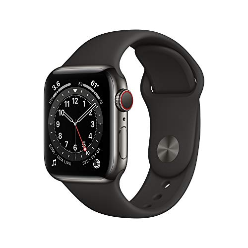 New Apple Watch Series 6 (GPS + Cellular, 40mm) - Graphite...
