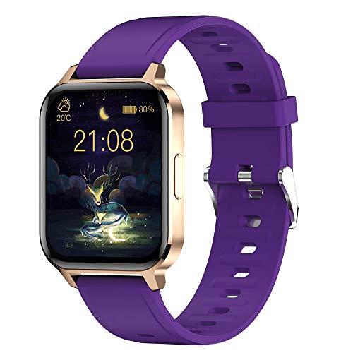 """Smartwatch, Reloj Inteligente Impermeable IP68 para Hombre Mujer niños,Smartwatch 1.7 """"Reloj de Pantalla Completa Hombres Mujeres Rastreador de Actividad física"""