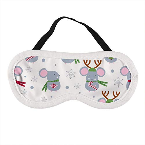 Draagbaar Oogmasker voor Mannen en Vrouwen, Kerst Leuke Muizen Muis De Beste Slaap masker voor Reizen, dutje, geven U De Beste Slaap Omgeving