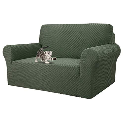 MAXIJIN Fodere per divani più recenti per 2 posti, Fodere per divanetto Jacquard Super Elasticizzato per Cani Protezione per mobili Elastica per Cani (2 Posto, Army Green)
