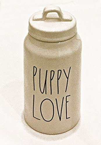 Review Of Rae Dunn by Magenta Ceramic Pet Treat Canister Inscribed: Puppy Love