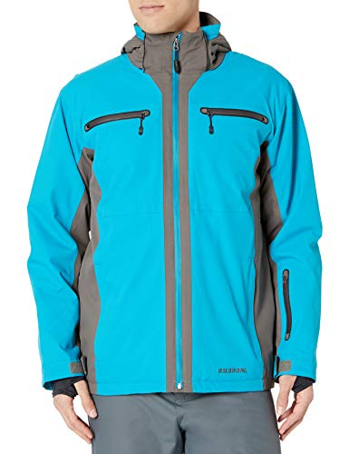 Boulder Gear Men's Powers Tech Jacket, Medium, Blue Riviera/Gray Shadow