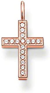 PE434 Pendant Cross in Rose Gold