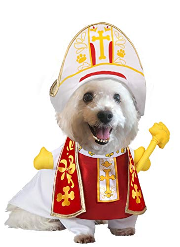 Halloween Pope Dog Pet Costume, Holy Hound Dog Costume for Halloween Dress-up Party, Role Play,...
