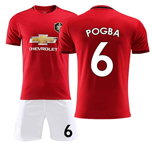 Manchester United, Pogba, 19-20 Saison, Fußballkleidung Anzug, No. 6, Basketball-Trikots
