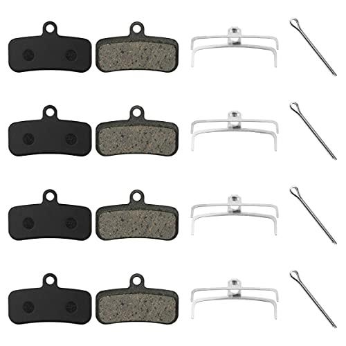 Pastiglie Freno a Disco, WASAGA 4 Paia Pastiglie Freno Semi-metalliche Bici Compatibili con SHIMANO, XTR, XT, SAINT, SLX, LX, HONE, ZEE