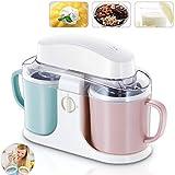 Máquina para Hacer Helados, Máquina para Hacer Sorbetes De Helado De Yogurt Helado Eléctrico De 1 Litro, Ideal para Helado, Sorbete Y Yogurt Helado