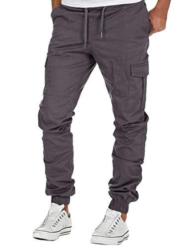 Minetom Homme Pantalon Cargo Casual Jogging Cordon De...