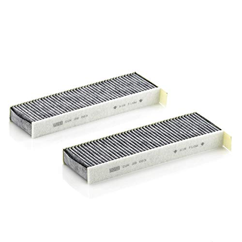 Original MANN-FILTER Filtro de habitáculo CUK 29 003-2 – Paquete de filtros de habitáculo (set de 2) con carbón activo – para automóviles