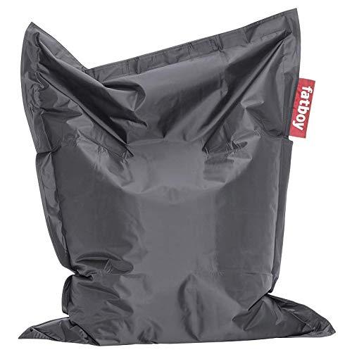 Fatboy® Junior anthrazit | Original Nylon-Sitzsack | Klassisches Indoor Sitzkissen speziell für Kinder | 130 x 100 cm
