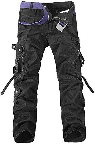 TRGPSG Pantalones Casuales Pantalones Multibolsillos Pantalones Deportivos de Combate de algodón para...