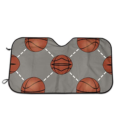 Basketballplatz Folding Faltbare Windschutzscheibe Sonnenschutz Für Auto Frontscheibe Visier Shield Cover Keep Vehicle Cool 51×27.5 Zoll