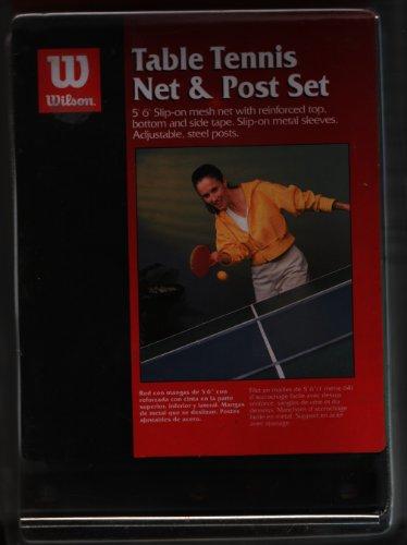 Wilson Juego de Red y Soportes para Tenis de Mesa
