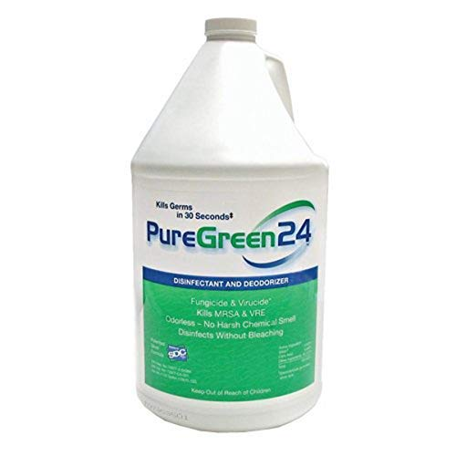 PureGreen24 Safe, Green, and All-Natural Disinfectant, Non-Toxic Ingredients, Kills Deadly Germs (Gallon) (Single)