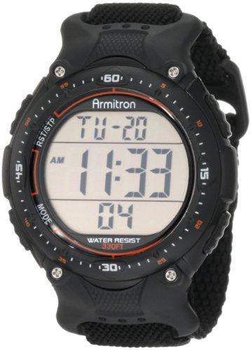 Armitron Sport Men's 408159BLK Chronograph Black Strap Digital Display Watch