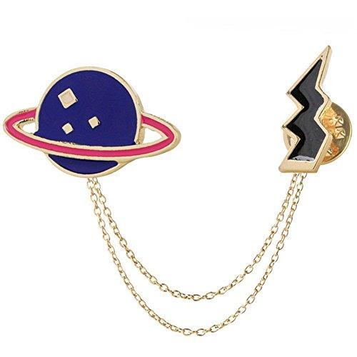 Milopon panno creativo forma spilla Planet Lightning pin per Boy Girl jeans giacca zaino cappello moda decorazione regalo