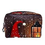 Bolsa de cosméticos Bolsa de Maquillaje Bolsa de cosméticos de Viaje, Bolso de Mano, Bolso de baño,Navidad Folklore Duendes gnomo