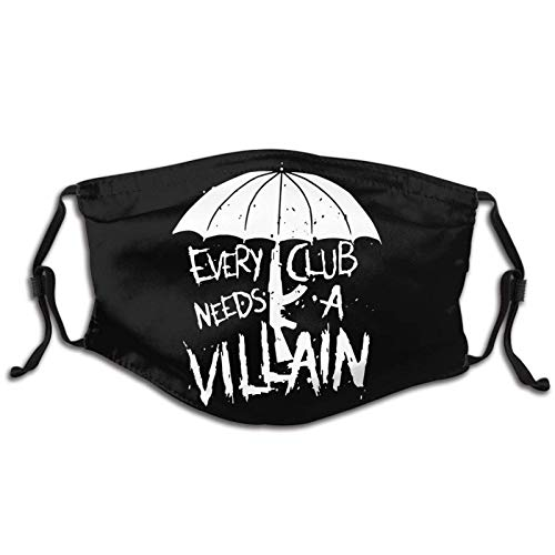 Lidanie Unisex Balaclava Villain Club Marty Scurll The Bullet Club Elite Face Mask Bandana Adjustable Earloop Mouth Face Cover for Adultwith 2 Filter Medium