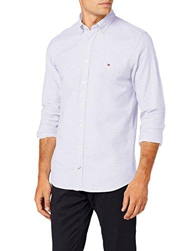 Tommy Hilfiger Herren CORE Stretch Slim Oxford Shirt Freizeithemd, Weiß (Bright White 100), X-Large