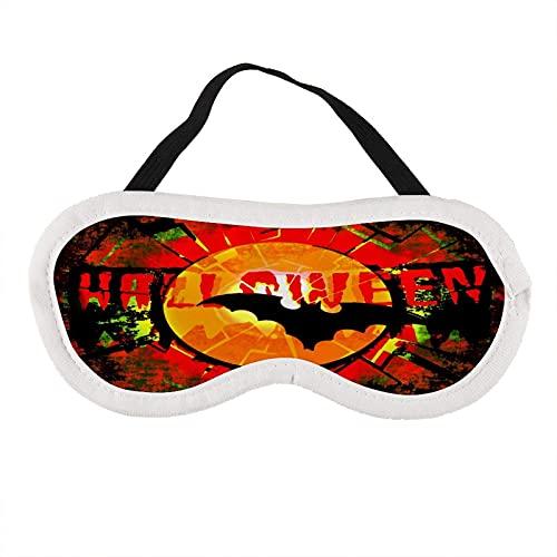 Augenmaske Halloween Fledermausmuster Augenmaske zum Schlafen Halloween Fledermausmuster Schlafmaske Geschenk für Ihn Schlafmaske