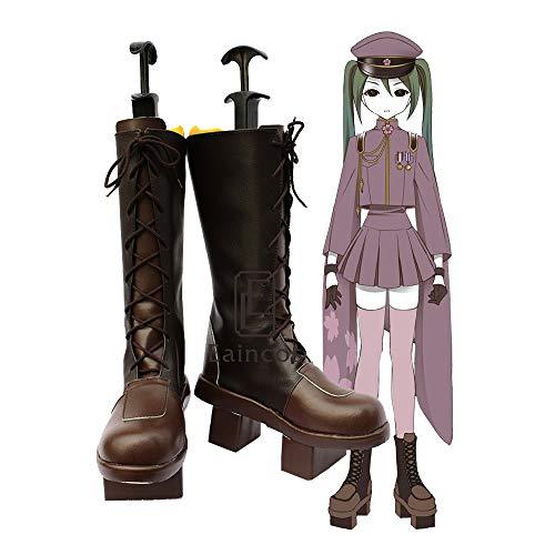 BELUNOT Vocaloid Hatsune Miku Senbonzakura Cosplay Shoes Fancy Boots Custom-Made 37 Male Size