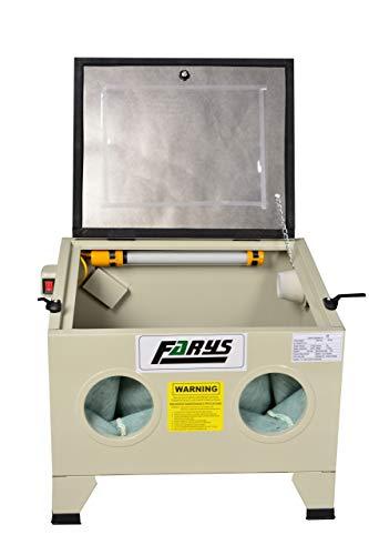 Professionelle Sandstrahlkabine 90L Schleifmittel gratis Farys FR7013
