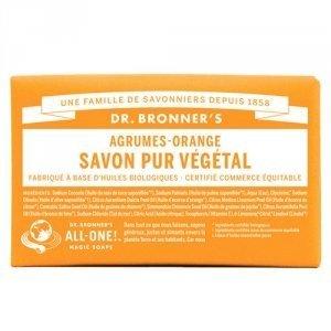 DR BRONNER'S Savon Solide Agrume-Orange - 140g