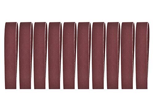 Nicoone 10pcs 760x25mm Sanding Belt 30x1 Inch Abrasive Band for Belt Sander 240-1000 Grit
