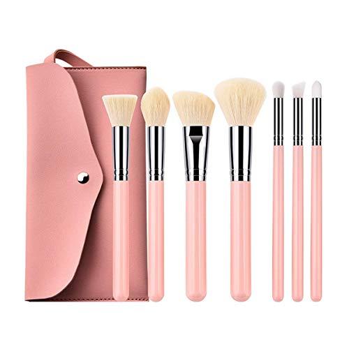 empty Maquillage Brosses 1 Set Professionnel pinceaux de Maquillage Fard à paupières Poudre Cils pinceaux de Maquillage avec Sac + cosmétique Éponge GAGEAA (Color : 7Pcs, Size : One Size)