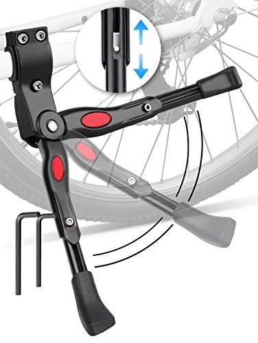 ANDERK Cavalletto Bici, Regolabile Universale Cavalletto Bicicletta Per Adulti e Bambini, Supporto Cavalletto in Aluminium Alloy per MTB, Bici da Strada e Bici Pieghevole