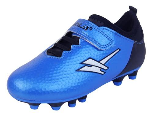 Gola Activo5 Astroturf Blade - Zapatillas de fútbol para niños, Azul Metallic Black Aka016, 33 EU
