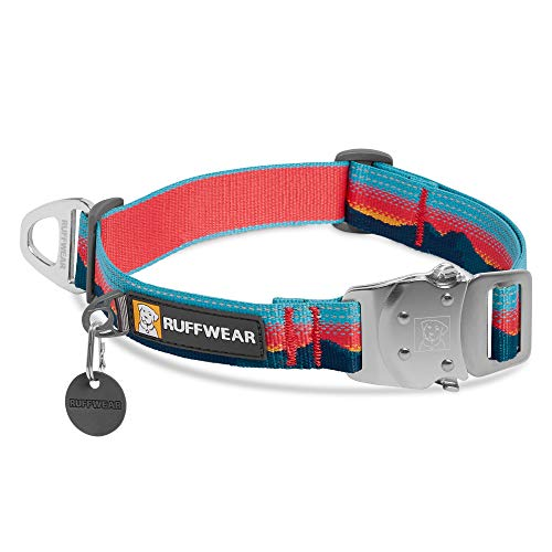 RUFFWEAR, Top Rope Dog Collar, Reflective Collar with Metal Buckle for Everyday Use, Sunset, 14