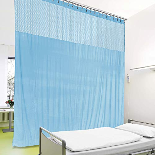 cololeaf Medical Privacy Flexible Curtains High Ceiling Hospital Lab Clinic Curved Room Decorative, Cubicle Curtain, Customizable for Header and Size