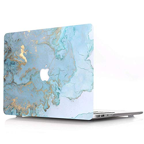 AQYLQ Funda para MacBook Air de 13 Pulgadas, de plástico Mate para portátil Apple MacBook Air 13/13.3 Pulgadas, Modelo A1466/A1369, DL41 mármol Azul