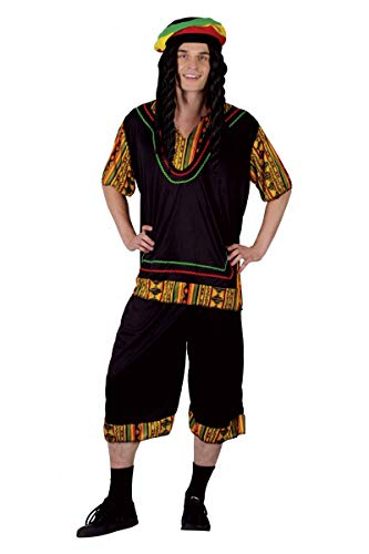 P'tit Clown 86372 Déguisement Adulte Rasta - Taille Unique - Multicolore