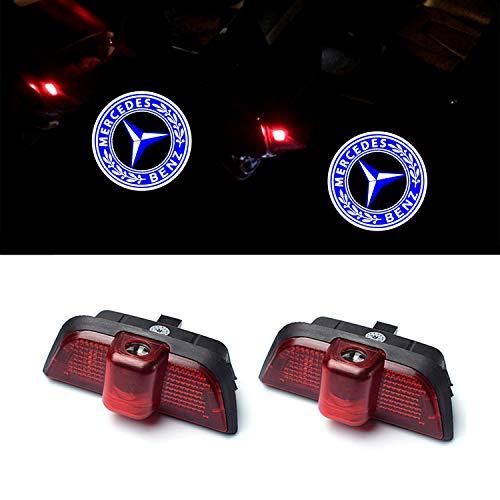 ZTMYZFSL 2 Stücke Auto Logo Projektion Projektor Tür geister Shadow Light Willkommen Lampe Licht