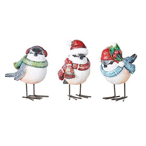 The Bridge Collection Holiday Chickadee Figurines, Set of 3