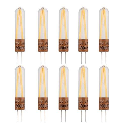 Bijenkorf bulb afzuigkap Corn Bollen YWXLight 10 PCS G4 2 LED COB LED Bi-Pin Lights, AC 220-240V lamp maïs e14 led bulb (Size : Cold White)
