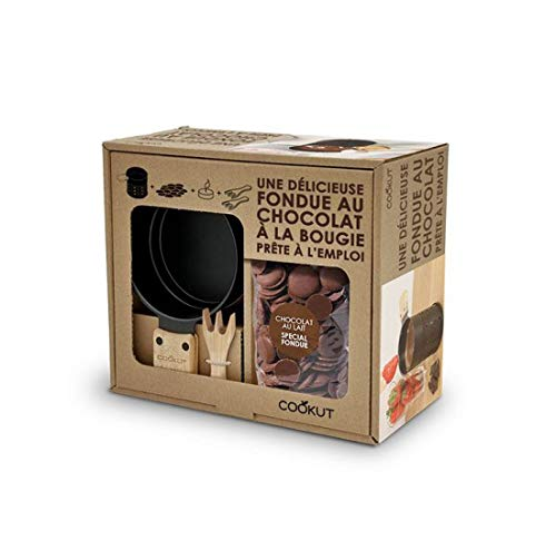 COOKUT Kit Fondue au Chocolat à la Bougie Chocolat au Lait