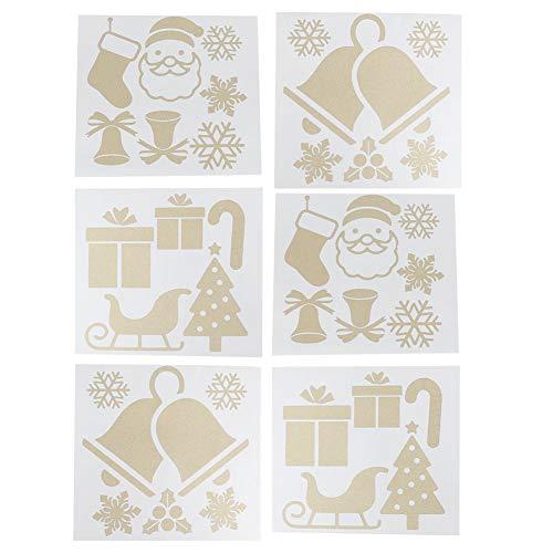 Väggdekaler, PVC julklistermärken, 2 uppsättningar för glasdörr skyltfönster vitrinskåp