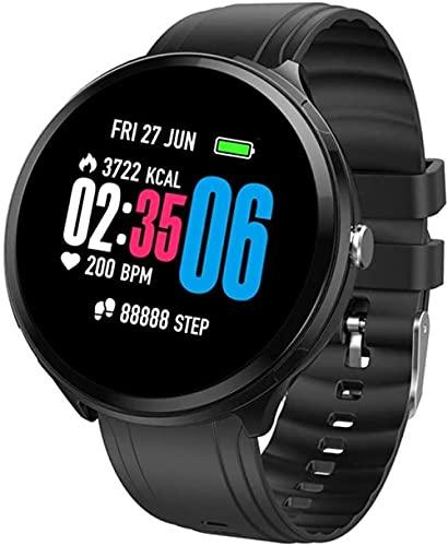 Reloj Pulsera Inteligente Detector de Sueño Pantalla Color IP67 Impermeable Bluetooth Smartwatch Podómetro Seguimiento de Sueño SMS Llamadas Notificación-D
