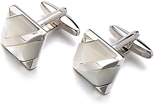 DHRH Gemelos personalizados para hombre con caja de acero inoxidable, clásicos gemelos cuadrados con regalo vintage, para padre, abuelo y papá, con caja de regalo