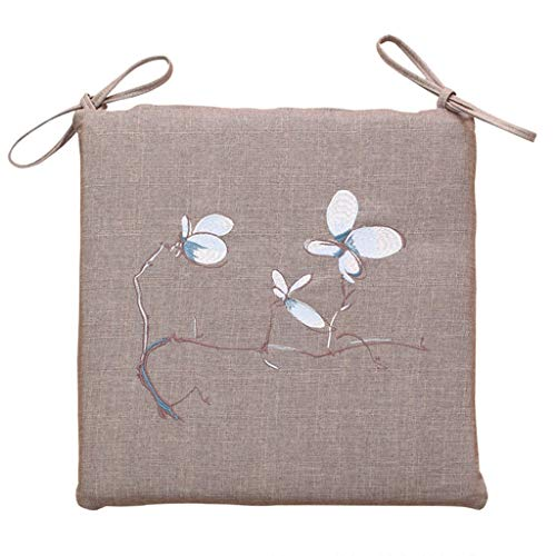 YUESFZ Chair Pads Household Dining Table And Chair Cushions, 4cm Thick Removable And Washable Cushion Magnolia Flower Embroidery Office Butt Pad 4 Seasons General (Color : A, Size : 40cm)