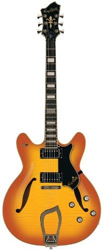 Hagstrom Viking Deluxe Amber Burst E-Gitarre