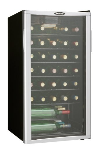 Danby DWC350BLPA 35 Bottle Wine Cooler - Platinum