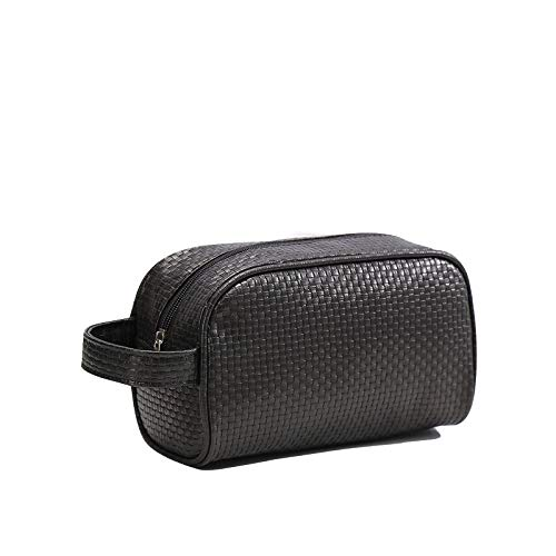 DEJVA make-up tas 1 stuk eenkleurig mannen wastzak unisex make-up tas voor foto's reizen toilettas Medium roze