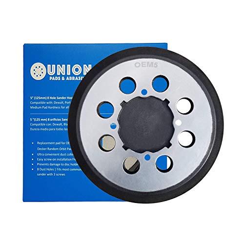 5 Inch 8 Hole Hook & Loop Replaces DeWalt OE# DWE64233 & N329079 Replacement Sanding Pad fits DeWalt DWE6423/6423K, DWE6421/6421K, DCW210B Random Orbital Sanders - High Strength Aluminum Backing Plate