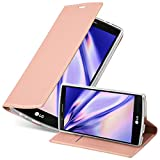 Cadorabo Book Case Compatible with LG G4 in Classy ROSÉ Gold - with Magnetic Closure, Stand Function and Card Slot - Wallet Etui Cover Pouch PU Leather Flip