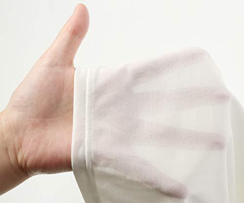 [アツギ]インナーシャツAIRYTHROUGH(エアリースルー)半袖吸汗速乾抗菌防臭VネックTシャツファッションメンズホワイト日本L(日本サイズL相当)